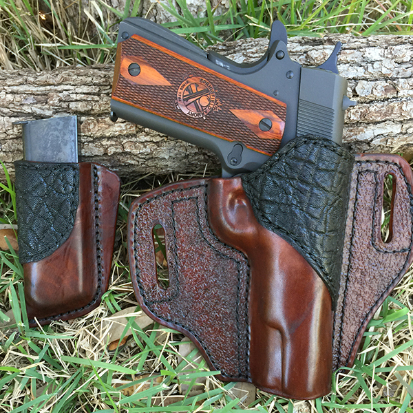 Bear Creek OWB Holster with Horsehide and Black Elephant Accent