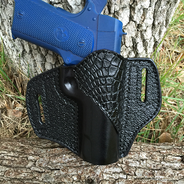 Black with Black Alligator Accent - Outside Waist Band Holster (OWB)